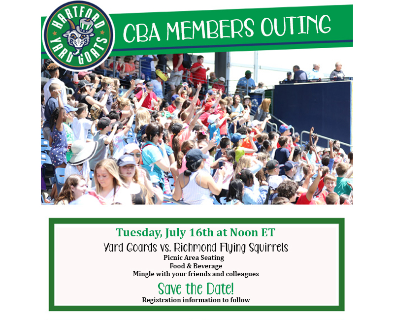 Save The Date for CBA Day At Dunkin Donuts Park!